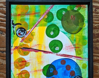 """Framed, Original Abstract Painting by Monica Schill titled """"Green"""""""