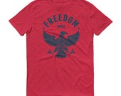 Freedom Eagle MMXX 2020 Anvil Short-Sleeve Unisex T-Shirt Heather Red and Heather Grey