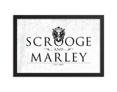 Scrooge Marley Christmas Carol Lion Head Door Knocker Wall Art Poster Print. Available Framed and Unframed.