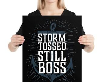 Storm Tossed Still Boss Anchor Poster Wall Art