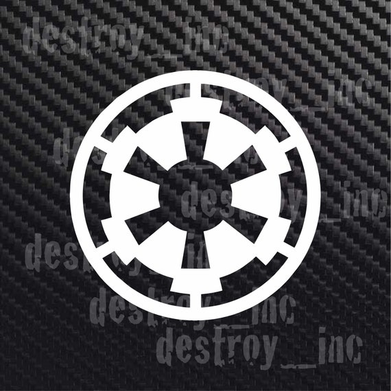 Star Wars Galactic Empire Symbol Sticker Decal Car Truck Etsy