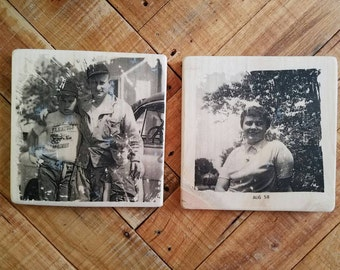 Custom photo transfer on wood