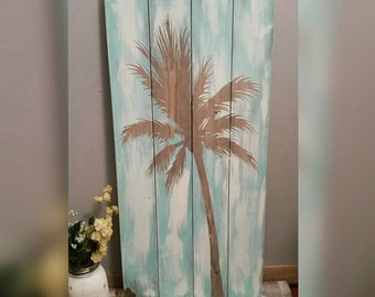 Palm Tree wood wall art
