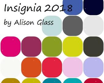 Fat Quarters INSIGNIA 2018 by Alison Glass for Andover Fabrics Fat Quarter Bundle
