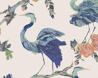 1/2 Yard EVE Premium Cotton Fabric By Bari J. For Art Gallery Fabric Herons Wisdom