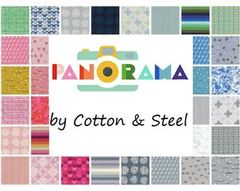Fat Quarters PANORAMA  (32) Cotton Fabric Collaboration from Cotton and Steel Fat Quarter Bundle