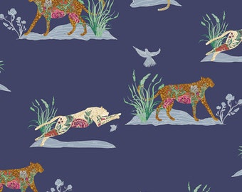 1/2 Yard EVE Premium Cotton Fabric By Bari J. For Art Gallery Fabric Untamed Nature Soothe
