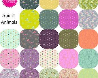 Fat Quarter Bundle (23) SPIRIT ANIMALS  by Tula Pink for Free Spirit Fat Quarters