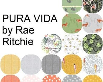 Fat Quarter Bundle (17) PURA VIDA by Rae Ritchie for Dear Stella0