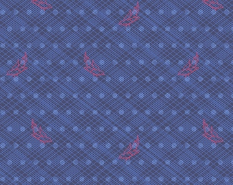 1 yard SEVENTY SIX by Alison Glass for Andover Fabrics Woven Birds Blue