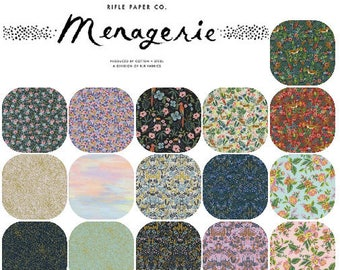 Fat Quarter Bundle (16) MENAGERIE by Rifle Paper Co. for Cotton and Steel Fat Quarters