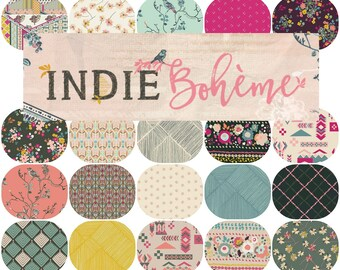 Fat Quarter Bundle(20) INDIE BOHEME By Pat Bravo for Art Gallery Fabrics Fat Quarters