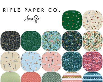 Fat Quarter Bundle AMALFI (17)  Cotton by Rifle Paper Co. From Cotton and Steel