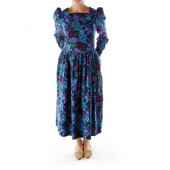Laura Ashley Dark Floral Prairie Dress