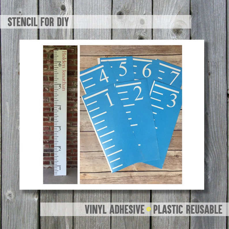 Stencils For Diy Growth Chart Ruler Etsy