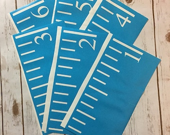 Growth Chart Ruler Files: Sideways Numbers - SVG/JPG/STUDIO3 Cut File - Instant Download - perfect for vinyl and stencils