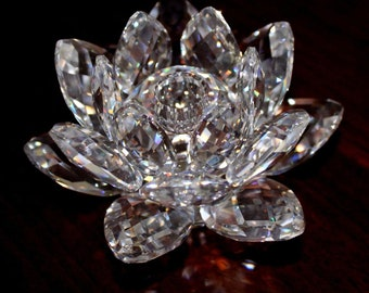 Swarovski Crystal Small Water Lily Candle Holder