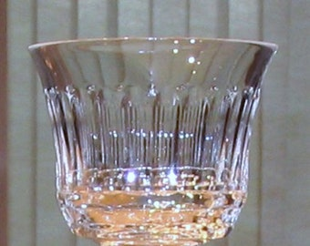 Varga Art Crystal Signed Monte Carlo Clear Wine Glass  (2 available)