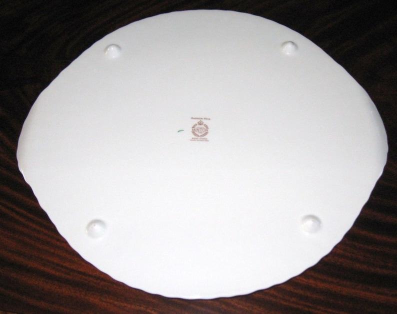 Minton Haddon Hall English Bone China Flat Cake Plate with Feet