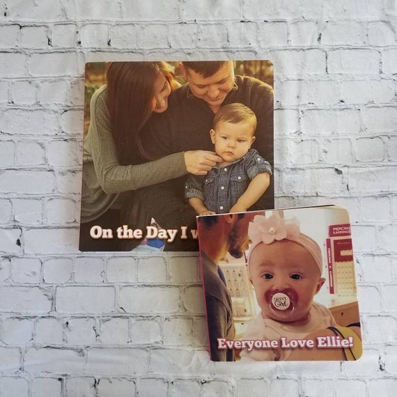 custom board book photo book personalized board book custom etsy