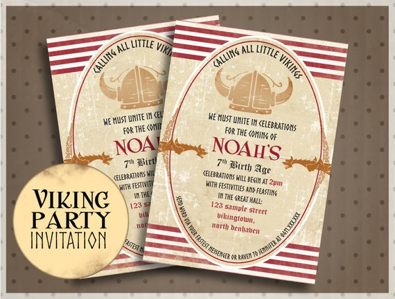 viking helmet invitation viking birthday invite unique party ideas