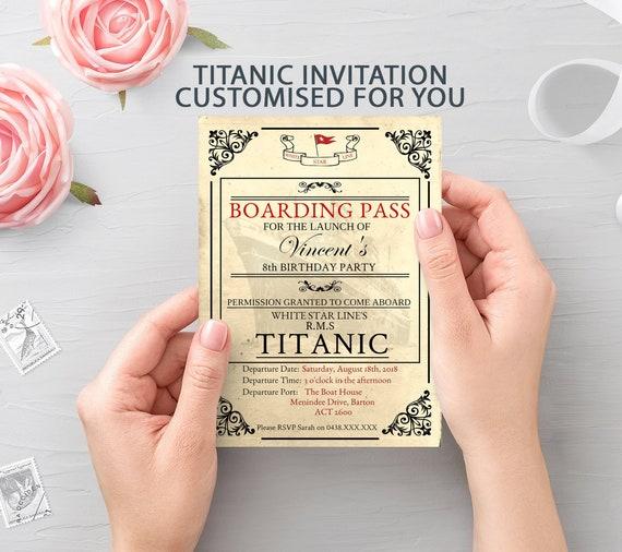 Titanic Birthday Party Invitation Invite Printable