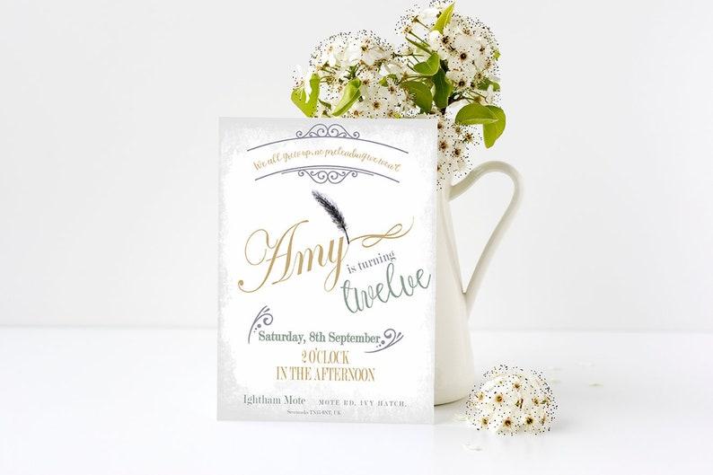 Posh Party Elegant Birthday Invitation Ideas Vintage Jane Austen Style Birthday Invite Coming Of Age Invite