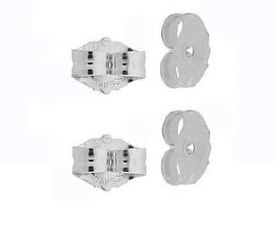 4 14k White Gold Earring Backs Ear Post Nuts Deluxe Etsy
