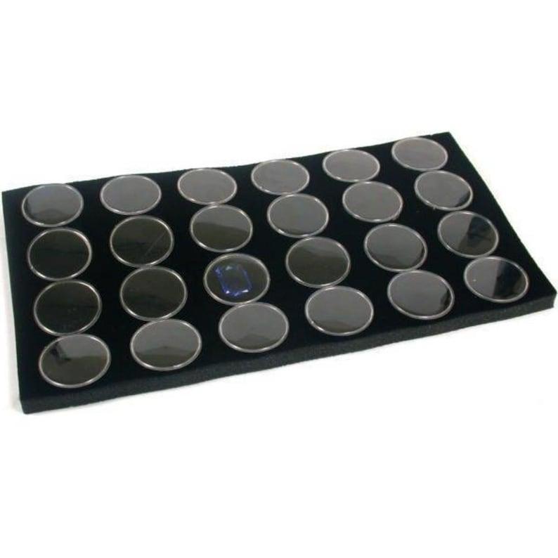 36 Black Gem Jar Foam Inserts Tray Jewelry Display Organizer Gemstones 6