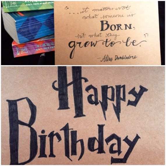 Harry Potter Birthday Card Dumbledore Quote It Matters