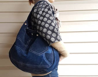 Sweet Suede Shoulder Bag - Upcycled and OOAK Blue Suede Beauty