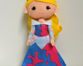 100% Acrylic Sleeping Beauty Inspired Barefoot Princess Doll- #makeforgood