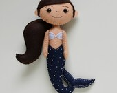 100% Acrylic Felt Mermaid doll