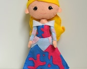 100% Acrylic Sleeping Beauty Inspired Barefoot Princess Doll- #makeforgood