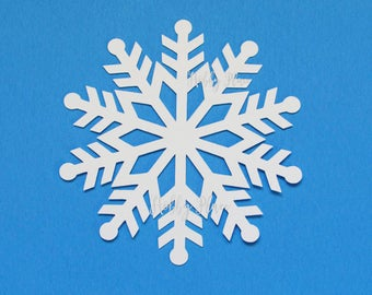 Paper Snowflakes Cutouts White Snowflake Die Cuts Cardstock Punch Decor