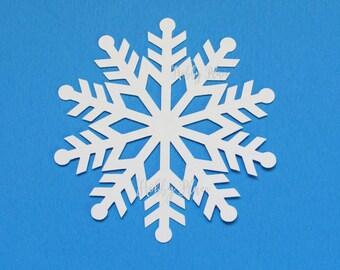 paper snowflakes cutouts white snowflake die cuts paper snowflake cutouts  Cardstock Snowflake  Snowflake Paper Punch Snowflake decor