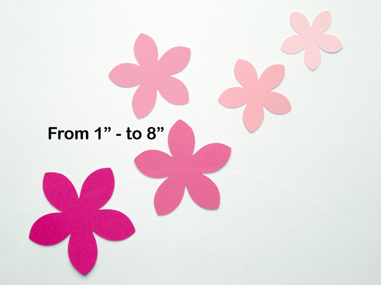 Pink Paper Flowers Five Petal Flower Star Shape Flower Etsy