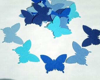 Blue paper butterfly cutouts 25 Butterfly die cuts paper butterflies butterfly decor blue butterflies