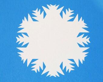 25 White Snowflake paper die cuts/ Snowflake Die Cut / Cardstock Snowflake/ Snowflake Paper Punch/ Paper Snowflake