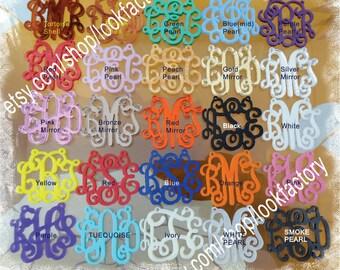Acrylic Monogram Necklace - Vine Monogram 3 Initial  Name Glitter Monogram Jewelry  -  Acrylic Monogram Pendant