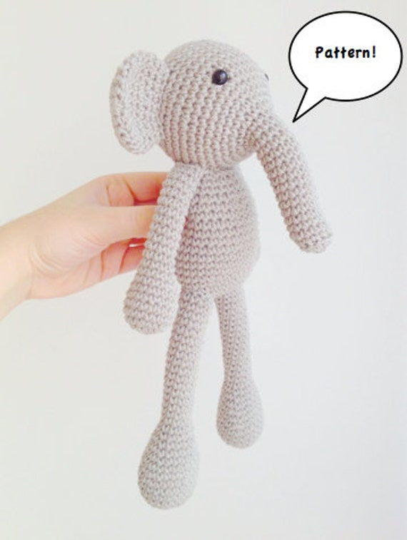 Elephant Amigurumi Pattern   Etsy