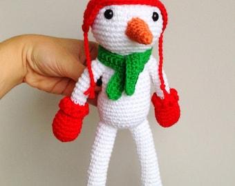 Snowman, Christmas Plush, Christmas decor, Christmas gift, Christmas Crochet, Crochet Snowman