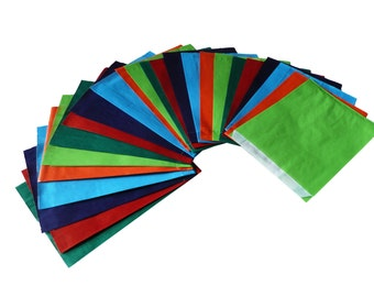 24 paper bags, different colours, big or small, 100% recycling paper