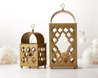 Morocco Lantern Wood lantern centerpiece Ramadan Candle Lantern Ramadan Decoration