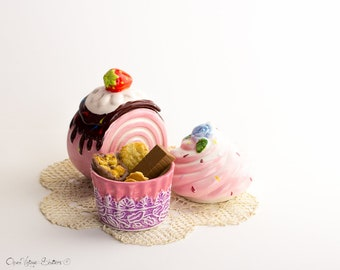 Support Black Pink Tiered tray decor, Coffee bar, Sweet tea Kitchen organization and storage, Ceramic cupcakes Set