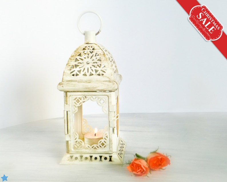 Vintage style Moroccan Lantern Shabby chic Lantern Rustic Image 1