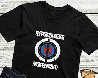 624f0d93431 Archery Shirt ARCHERY LEGEND Bow Arrow Target Shirt Funny Archery Gift Unisex  T-Shirt for Men and Women 3XL 4XL 5XL Sizes Available