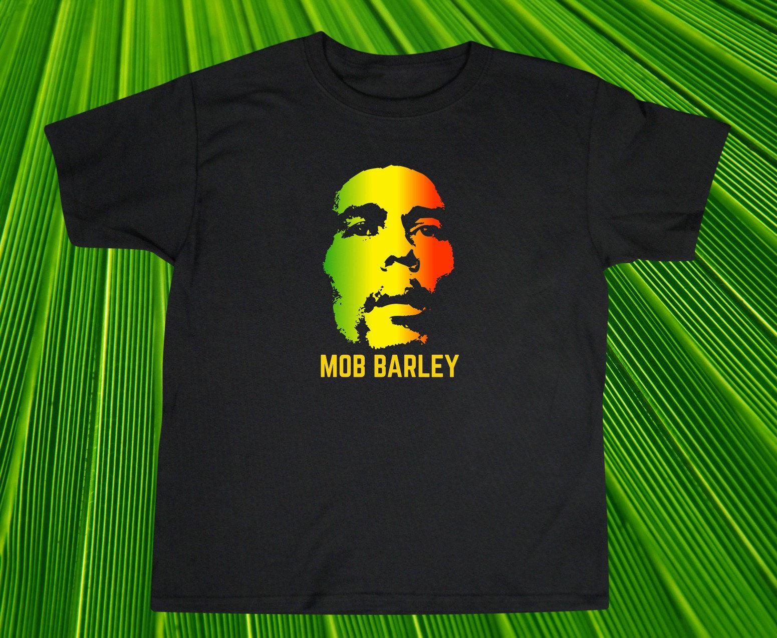 MOB orge Bob Marley Funny T-Shirt T-Shirt Funny cadeau humoristique Reggae musique Jamaïque comique mignon unisexe chemise noire pour les hommes et les femmes 0451b7
