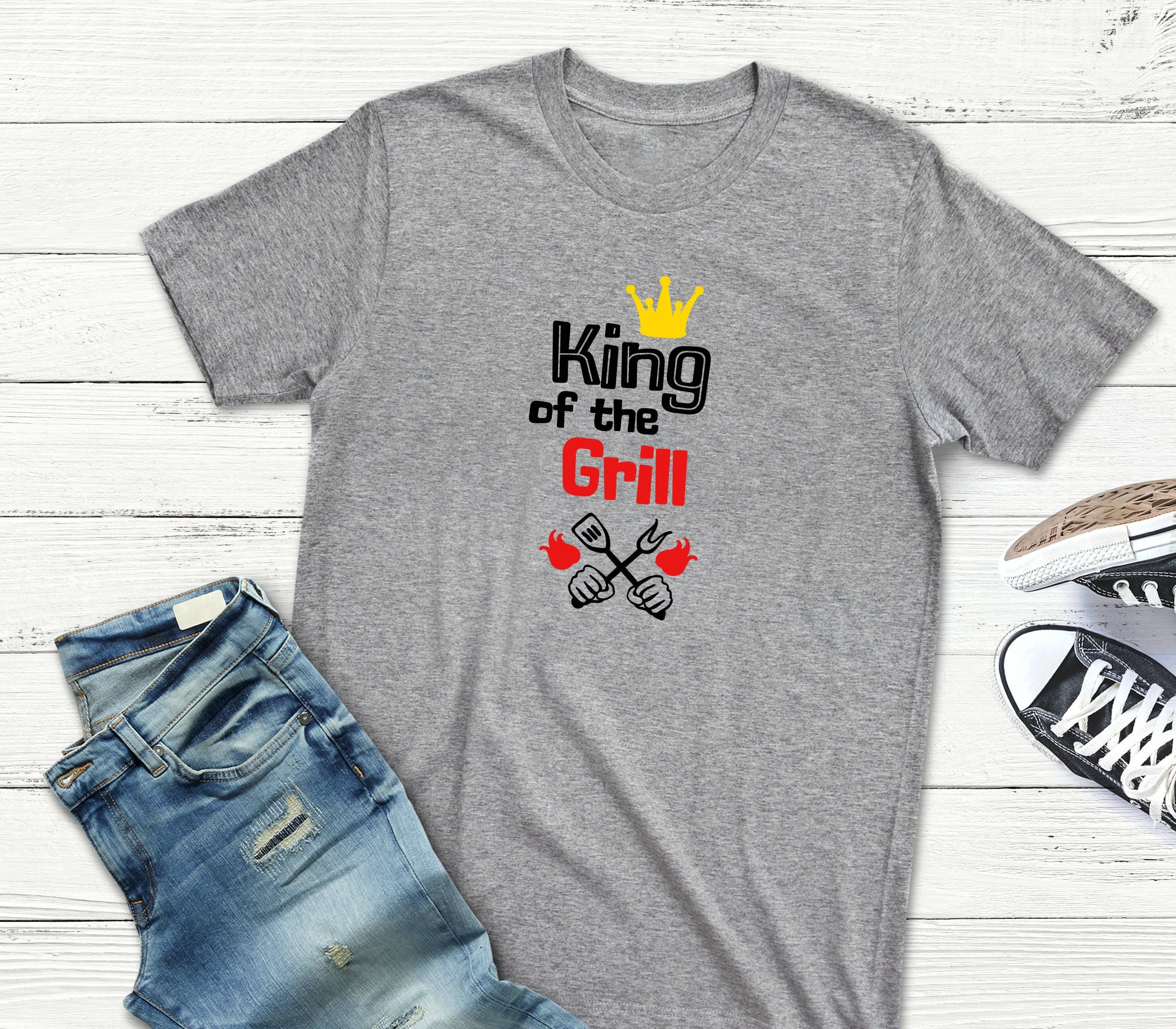 839ca2a6 BBQ Shirt KING Of The GRILL Funny Barbecue Cooking T-Shirt | Etsy