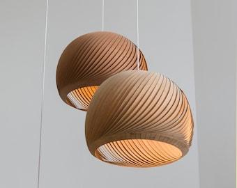 "Free shipping, Pendant light, Pendant lamp, hanging lamp, hanging light, ceiling lamp, ceiling light, Bamboo veneer lampshade,""Wind"""